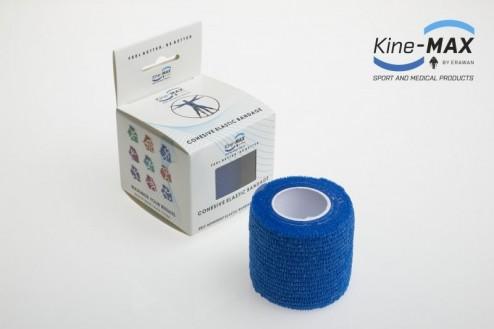 KINE-MAX COHESIVE ELASTIC BANDAGE ELASTICKÁ SAMOFIXAČNÍ BANDÁŽ 5cm x 4,5m - Modrá č.1