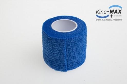 KINE-MAX COHESIVE ELASTIC BANDAGE ELASTICKÁ SAMOFIXAČNÍ BANDÁŽ 5cm x 4,5m - Modrá č.2