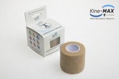 KINE-MAX COHESIVE ELASTIC BANDAGE ELASTICKÁ SAMOFIXAČNÍ BANDÁŽ 5cm x 4,5m - Béžová