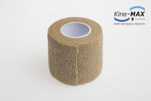 KINE-MAX COHESIVE ELASTIC BANDAGE ELASTICKÁ SAMOFIXAČNÍ BANDÁŽ 5cm x 4,5m - Béžová č.2