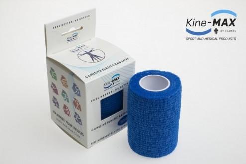 KINE-MAX COHESIVE ELASTIC BANDAGE ELASTICKÁ SAMOFIXAČNÍ BANDÁŽ 7,5cm x 4,5m - Modrá č.1
