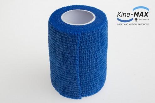 KINE-MAX COHESIVE ELASTIC BANDAGE ELASTICKÁ SAMOFIXAČNÍ BANDÁŽ 7,5cm x 4,5m - Modrá č.2