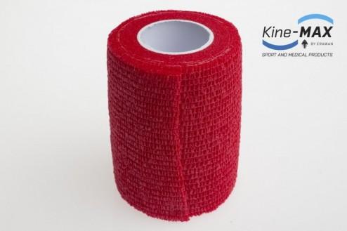 KINE-MAX COHESIVE ELASTIC BANDAGE ELASTICKÁ SAMOFIXAČNÍ BANDÁŽ 7,5cm x 4,5m - Červená č.2