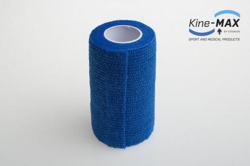 KINE-MAX COHESIVE ELASTIC BANDAGE ELASTICKÁ SAMOFIXAČNÍ BANDÁŽ 10cm x 4,5m - Modrá č.2