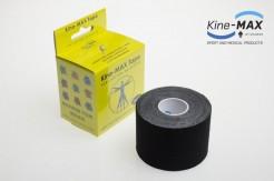 KINE-MAX SUPER-PRO COTTON KINESIO TEJP 5cm x 5m - Černá