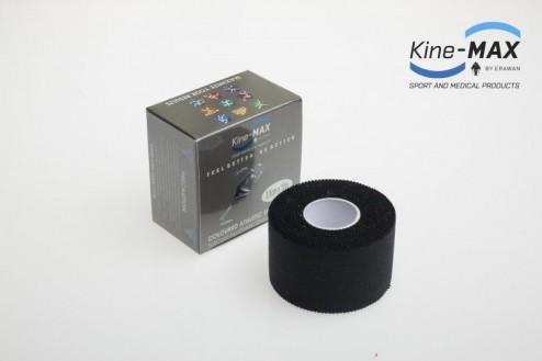 KINE-MAX NEELASTICKÝ TEJP TEAM 3,8cm x 10m - Černá č.1