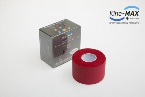 KINE-MAX NEELASTICKÝ TEJP TEAM BAREVNÝ 3,8cm x 10m - Červená č.1