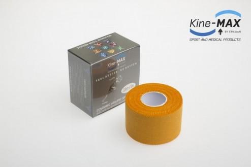 KINE-MAX NEELASTICKÝ TEJP TEAM BAREVNÝ 3,8cm x 10m - Oranžová č.1