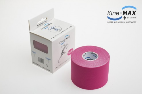 KINE-MAX 4WAY STRETCH TEJP 5cm x 5m - Růžová č.1