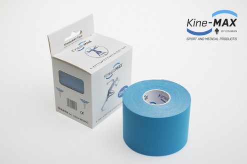 KINE-MAX 4WAY STRETCH TEJP 5cm x 5m - Modrá č.1