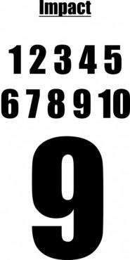 POTISK DRESŮ, čísla 2-16, 23cm, Impact č.1