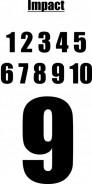 POTISK TRENEK, čísla 2-16, 5cm, Impact