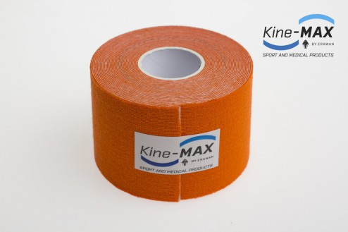 KINE-MAX SUPER-PRO COTTON KINESIO TEJP 5cm x 5m - Oranžová č.2