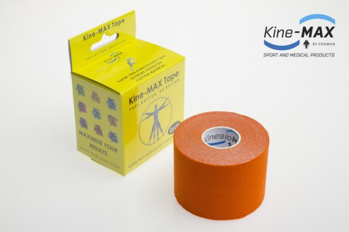 KINE-MAX SUPER-PRO COTTON KINESIO TEJP 5cm x 5m - Oranžová č.1