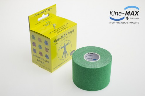KINE-MAX SUPER-PRO COTTON KINESIO TEJP 5cm x 5m - Zelená č.1