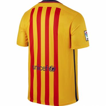 NIKE FC BARCELONA AWAY STADIUM REPLIKA DRES PÁNSKÝ - Žlutá, Tm.modrá č.2