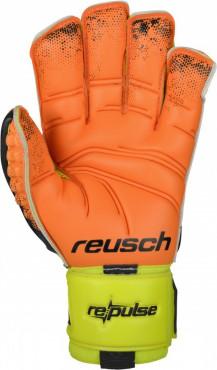REUSCH RE:PULSE DELUXE G2 BRANKAŘSKÉ RUKAVICE - Neon žlutá, Oranžová č.2