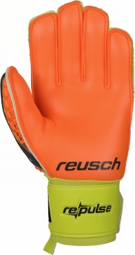 REUSCH RE:PULSE PRIME M1 BRANKAŘSKÉ RUKAVICE - Neon žlutá, Oranžová č.3