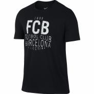 NIKE FCB SQUAD TEE TRIKO PÁNSKÉ - Černá