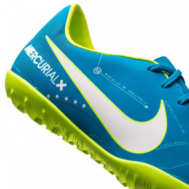 NIKE JR MERCURIALX VICTORY VI NJR TF TURFY DĚTSKÉ - Modrá, Neon žlutá č.10