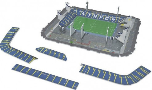 3D PUZZLE FOTBALOVÝ STADION - WHITE HART LANE (TOTTENHAM) - Bílá č.7