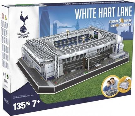 3D PUZZLE FOTBALOVÝ STADION - WHITE HART LANE (TOTTENHAM) - Bílá č.1