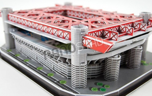 3D PUZZLE FOTBALOVÝ STADION - SAN SIRO - Bílá, Červená č.4