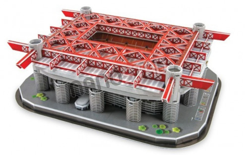 3D PUZZLE FOTBALOVÝ STADION - SAN SIRO - Bílá, Červená č.5