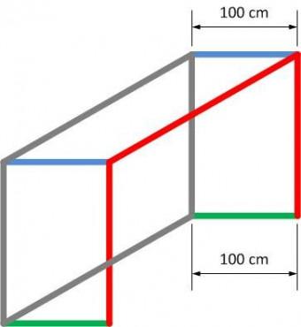 FOTBAL SÍŤ 151 5,15x2,05x1x1m PP 4mm - Červená č.2