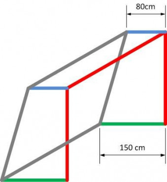 FOTBALOVÁ SÍŤ DVOUBAREVNÁ 107 4 mm 7,5x2,5x0,8x1,5m - Černá, Červená č.2