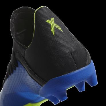 ADIDAS X 18.3 FG KOPAČKY DĚTSKÉ - Modrá, Neon žlutá č.3