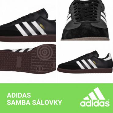 ADIDAS SAMBA SÁLOVKY PÁNSKÉ - Černá č.6