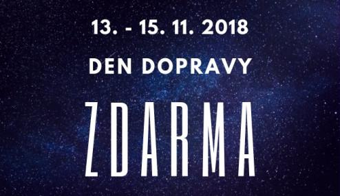 DNY DOPRAVY ZDARMA 13. - 15. 11. 2018