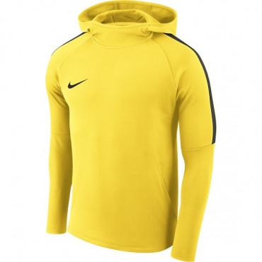NIKE DRY ACADEMY FOOTBALL HOODIE - Žlutá č.1