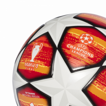 ADIDAS FINALE MADRID 2019 TOP TRAINING FOTBALOVÝ MÍČ - Oranžová, Bílá č.3
